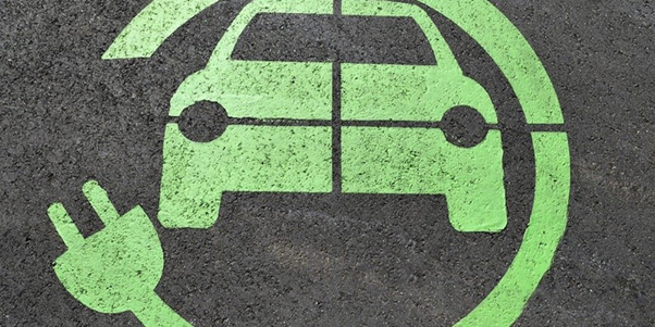 Electric car charging point sign